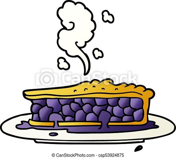 cartoon blueberry pie - csp53924875