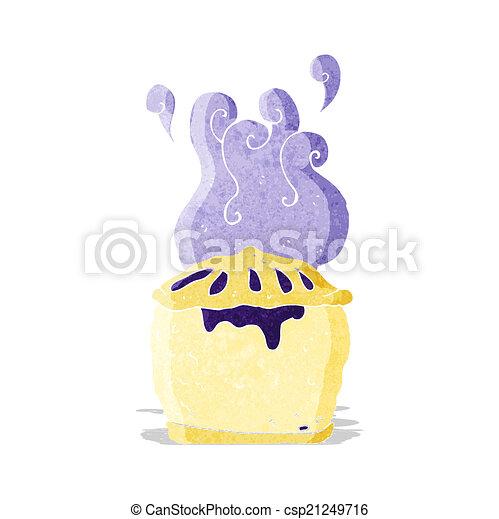 cartoon blueberry pie - csp21249716