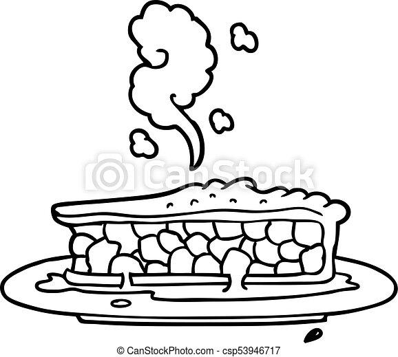 cartoon blueberry pie - csp53946717