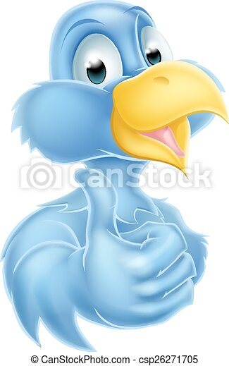 Cartoon Bluebird Mascot - csp26271705