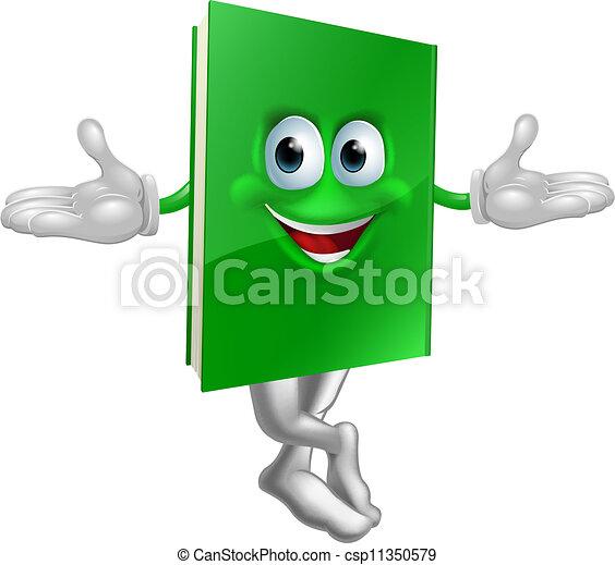 Cartoon book mascot - csp11350579