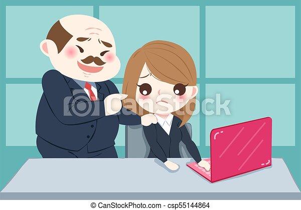 Sexual harassment cartoons office supplies