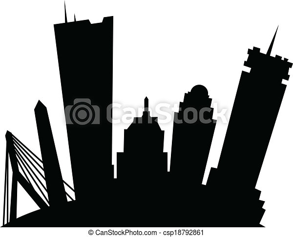 cartoon boston cartoon skyline silhouette of the city of clip rh canstockphoto com city clipart free city clip art images