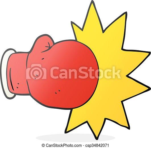 cartoon boxing glove - csp34842071