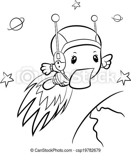 Cartoon boy-astronaut - csp19782679