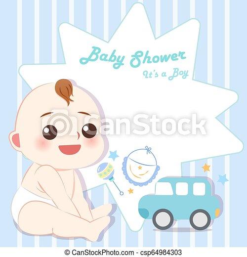 Cartoon Boy Baby Shower Party