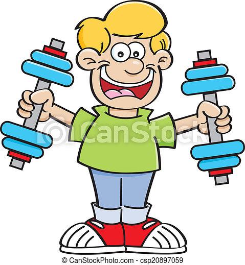 cartoon boy exercising cartoon illustration of a boy clipart rh canstockphoto com exercise clipart exercise clip art pedaling