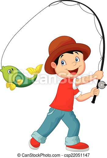 vector illustration of cartoon boy fishing eps vector search clip rh canstockphoto co uk boy and girl fishing clipart boy fishing clipart free