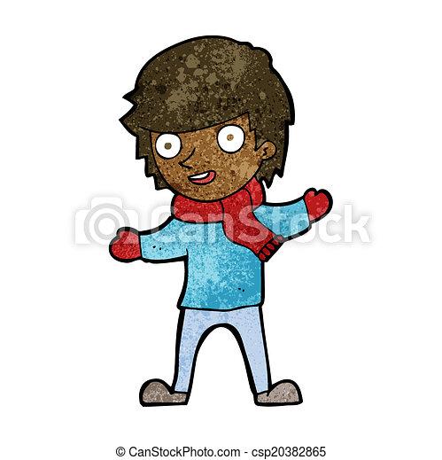 17ae925728da cartoon boy in winter clothes - csp20382865
