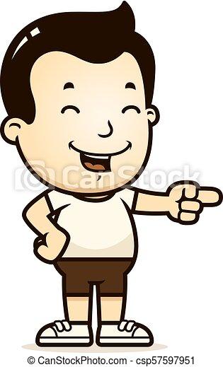 Cartoon Boy Laughing - csp57597951