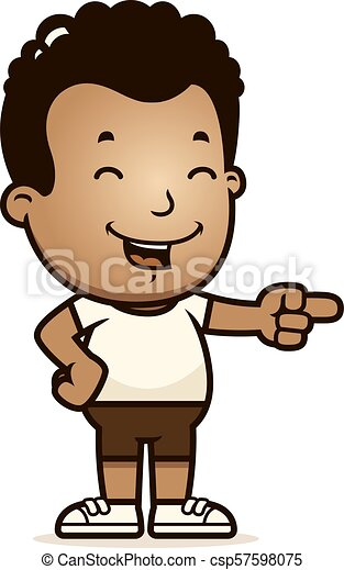 Cartoon Boy Laughing - csp57598075