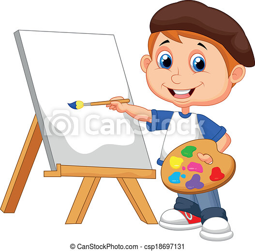 Painting Clip Art Kid