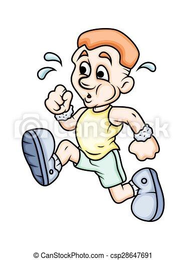 Cartoon Boy Running - csp28647691