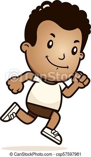 Cartoon Boy Running - csp57597981