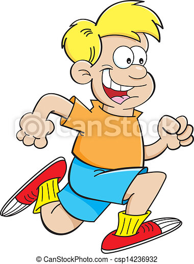 Cartoon boy running - csp14236932