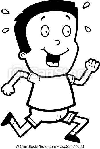 Cartoon Boy Running - csp23477638