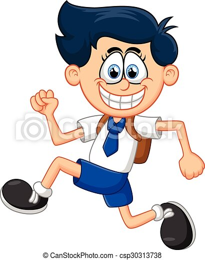 Cartoon boy running - csp30313738