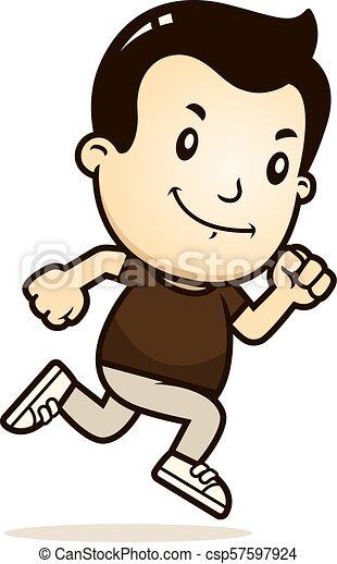 Cartoon Boy Running - csp57597924