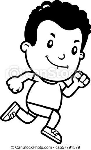 Cartoon Boy Running - csp57791579