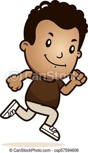 Cartoon Boy Running - csp57594606