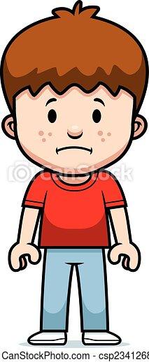 cartoon boy sad a cartoon boy with a sad expression rh canstockphoto com Sad Girl Clip Art sad boy clipart black and white