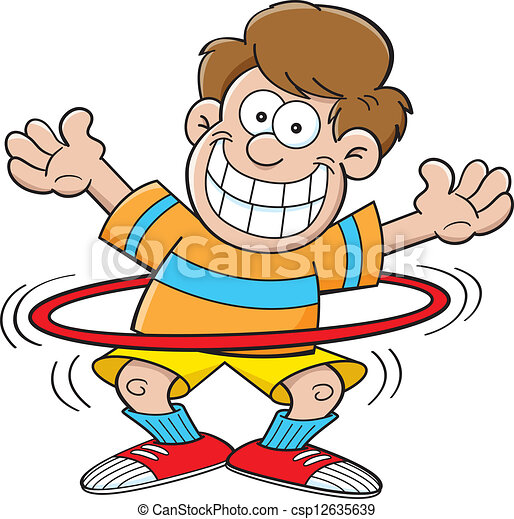 cartoon boy with a hula hoop cartoon illustration of a boy rh canstockphoto com girl playing hula hoop clipart hula hoop clipart images