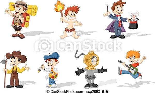cartoon boys - csp28931615