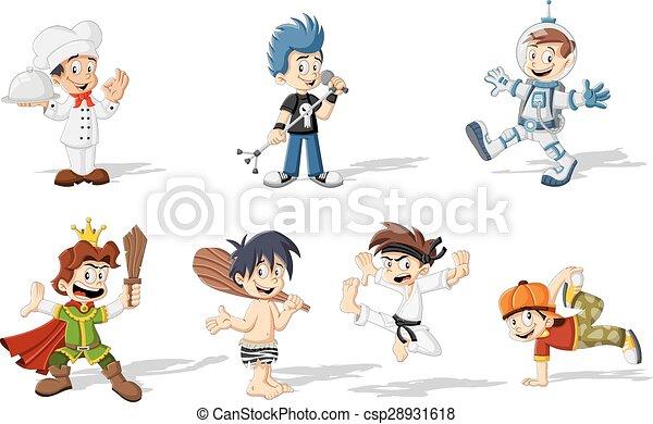 cartoon boys - csp28931618