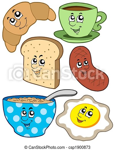 Cartoon breakfast collection - csp1900873