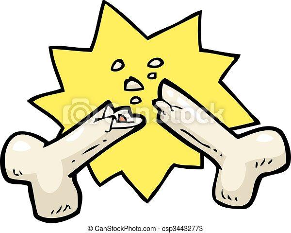 Cartoon broken bone - csp34432773