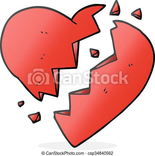 freehand drawn cartoon broken heart rh canstockphoto com cartoon broken heart wallpaper cartoon broken heart video