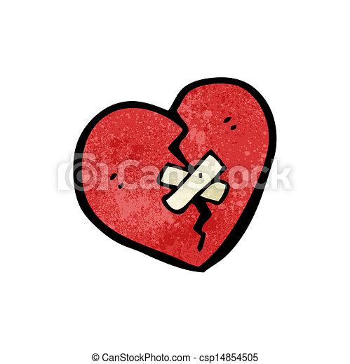 cartoon broken heart rh canstockphoto com cartoon broken heart video broken hearted girl cartoon