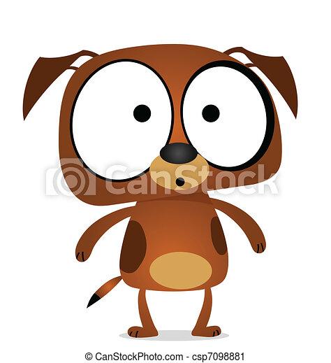 Cartoon brown dog  - csp7098881