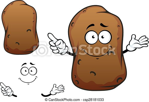 Cartoon brown potato vegetable character - csp28181033