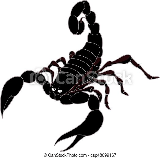 vector image of the cartoon brown scorpion clip art vector search rh canstockphoto com scorpio clip art black and white scorpion clip art free