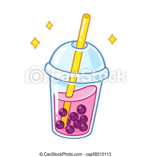 Cartoon bubble tea - csp58210113