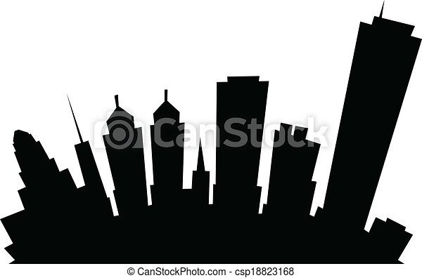buffalo city scape vector 1 clip art vector site