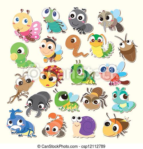 cartoon bug icon - csp12112789
