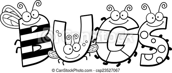 cartoon bugs word a cartoon illustration of the word bugs clip rh canstockphoto com ladybugs clipart clipart of bugs & insects