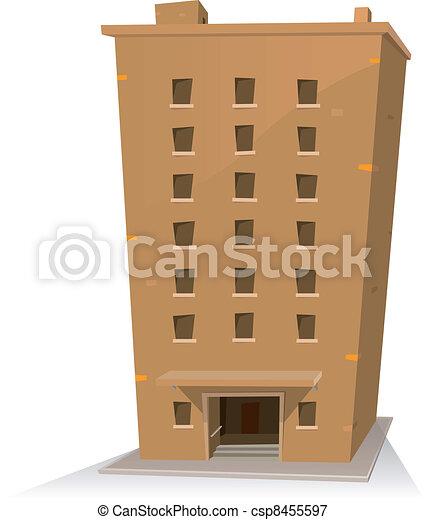 Cartoon Building - csp8455597