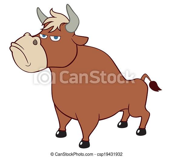 Cartoon bull - csp19431932