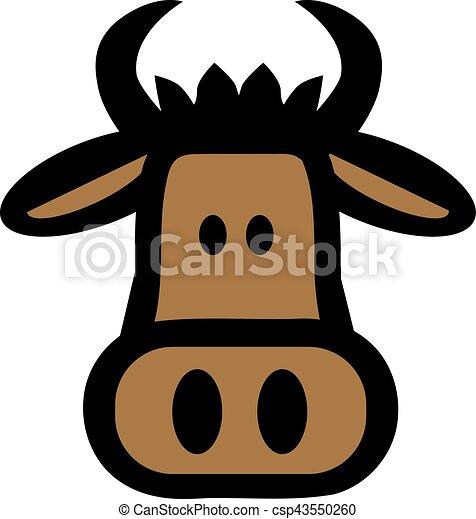Cartoon bull head - csp43550260