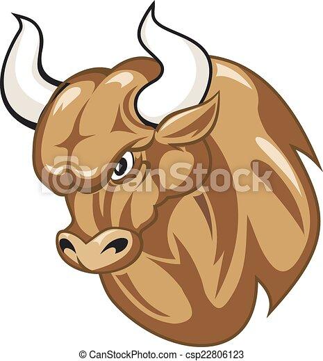Cartoon bull - csp22806123