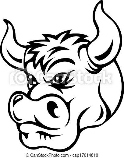 Cartoon bull - csp17014810