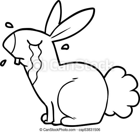 Cartoon Bunny Rabbit Crying