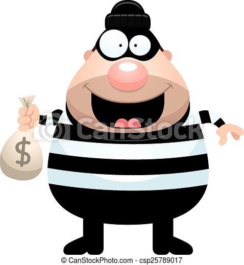 cartoon burglar money bag a cartoon illustration of a vector rh canstockphoto com burglar clipart black and white cat burglar clipart