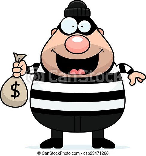 cartoon burglar moneybag a cartoon illustration of a clip art rh canstockphoto com cartoon burglar clipart burglar clipart black and white
