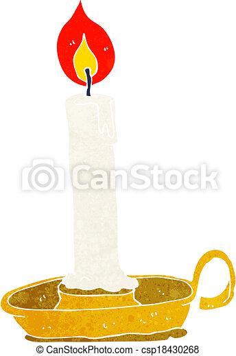 cartoon burning candle - csp18430268