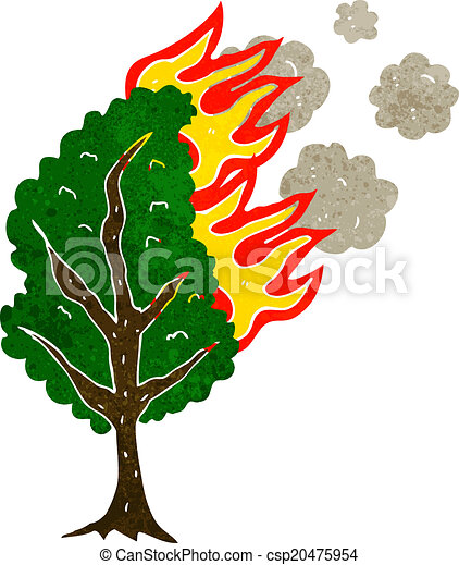 Cartoon Burning Tree Canstock Animated fire on gif images. https www canstockphoto com cartoon burning tree 20475954 html
