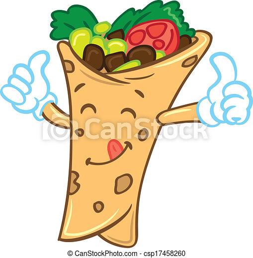 cartoon burrito clip art vector search drawings and graphics rh canstockphoto com burrito clipart free burrito clipart